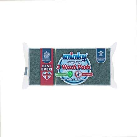 Minky Heavy Duty Wash Pad - Pack 3